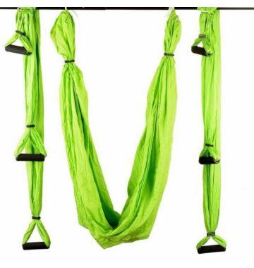 Antigravitációs jóga függőágy almazöld színű