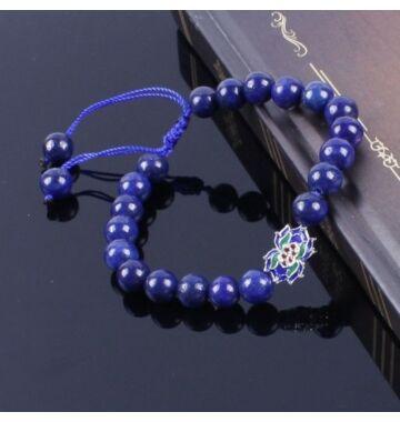 Lapis lazuli mala tibeti medállal