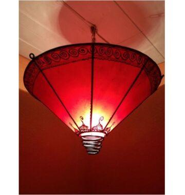 Abla marokkói mennyezeti lámpa piros