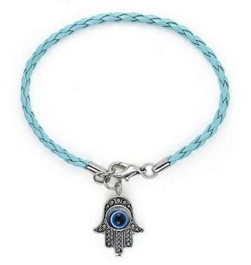 Fatima keze karkötő kék színű