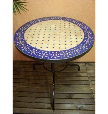 Marrakeshi SUN mozaik asztal natúr/kék