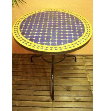 Marrakeshi mozaik asztal kék/sárga