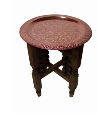 Mehdia marokkói teázó asztal II. réz