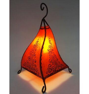 Rahaf marrokkói álló lámpa narancs