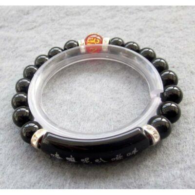 Tibeti fekete achát karkötő