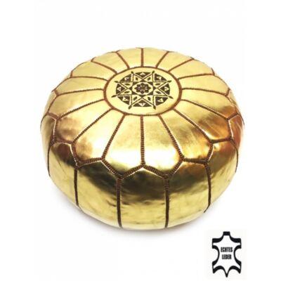 Iskandar keleti bőr puff, ülőpárna arany