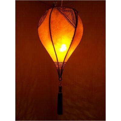 Taba marokkói mennyezeti lámpa narancs