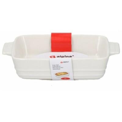 Kerámia sütőtál fehér 1.0 literes