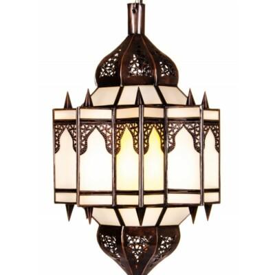 Alia marokkói mennyezeti lámpa fehér