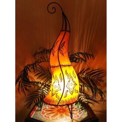 Almina marokkói henna álló lámpa narancs 71 cm