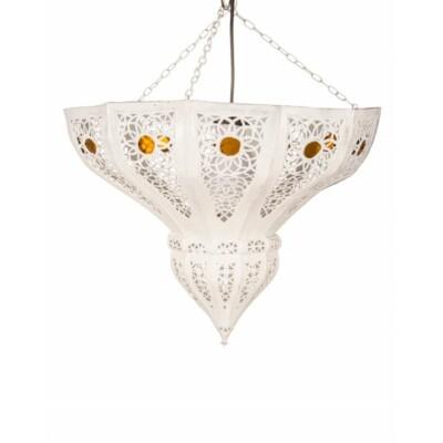 Cal marokkói mennyezeti lámpa fehér