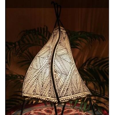 Emira marokkói henna lámpa natúr 43 cm