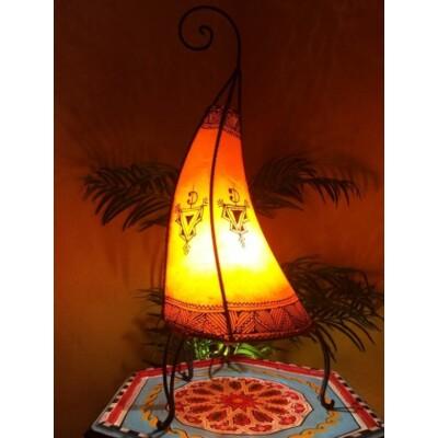 Nouf marokkói henna álló lámpa narancs 60 cm