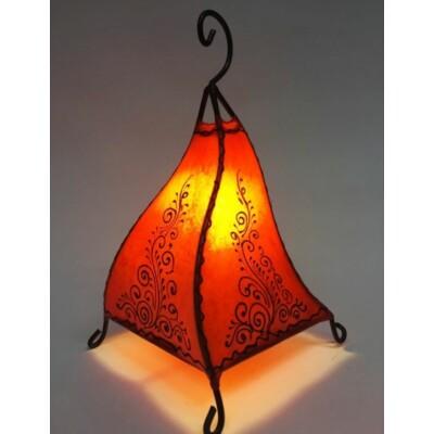 Rahaf marokkói álló henna lámpa narancs 35 cm
