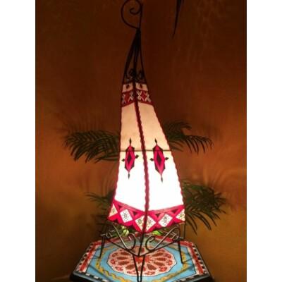 Riham marokkói henna álló lámpa színes 80 cm