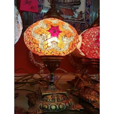 Sárga mozaik török asztali lámpa