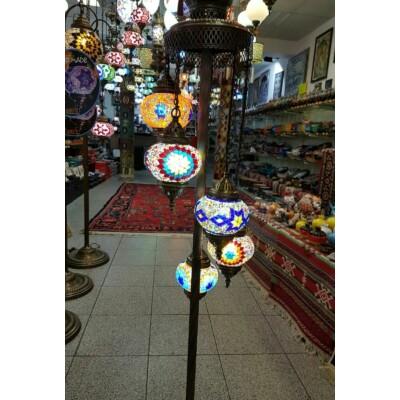 Török mozaik színes 5 búrás állólámpa