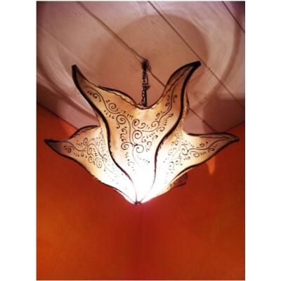 Daya marokkói mennyezeti lámpa natúr