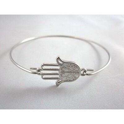 Fatima keze karkötő ezüst színű