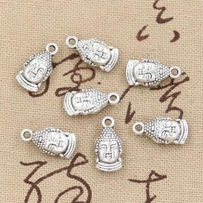 Tibeti ezüstből Buddha fej