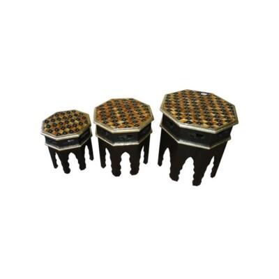 Ibtihal 3 részes keleti teázó asztal szett