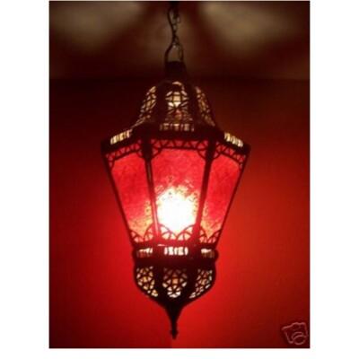 Ksar marokkói mennyezeti lámpa piros