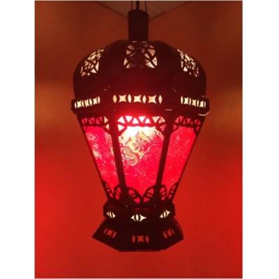 Peso marokkói mennyezeti lámpa piros