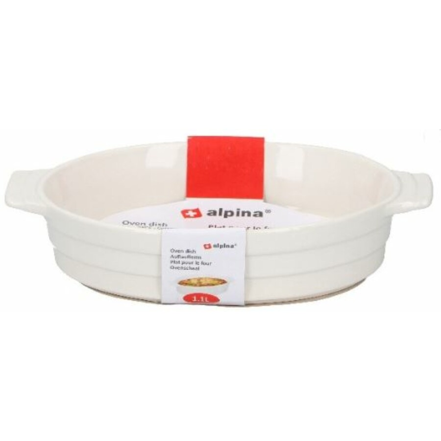 Kerámia sütőtál fehér 1.1 literes