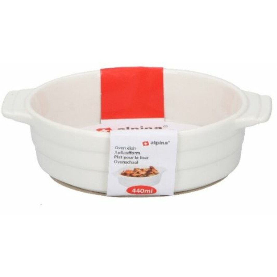 Kerámia sütőtál fehér 440ML
