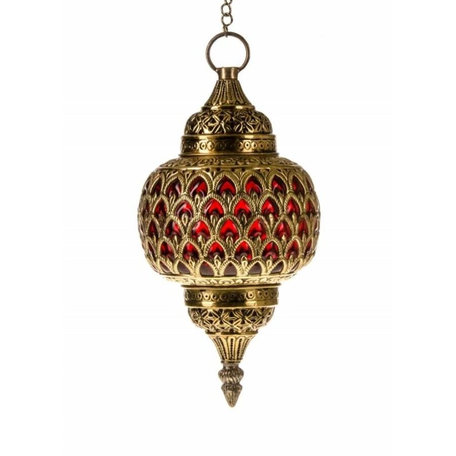 Adla marokkói mennyezeti lámpa piros