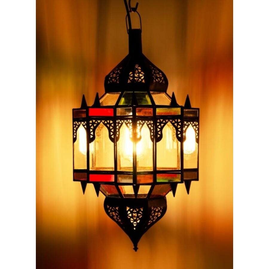 Alia marokkói mennyezeti lámpa színes