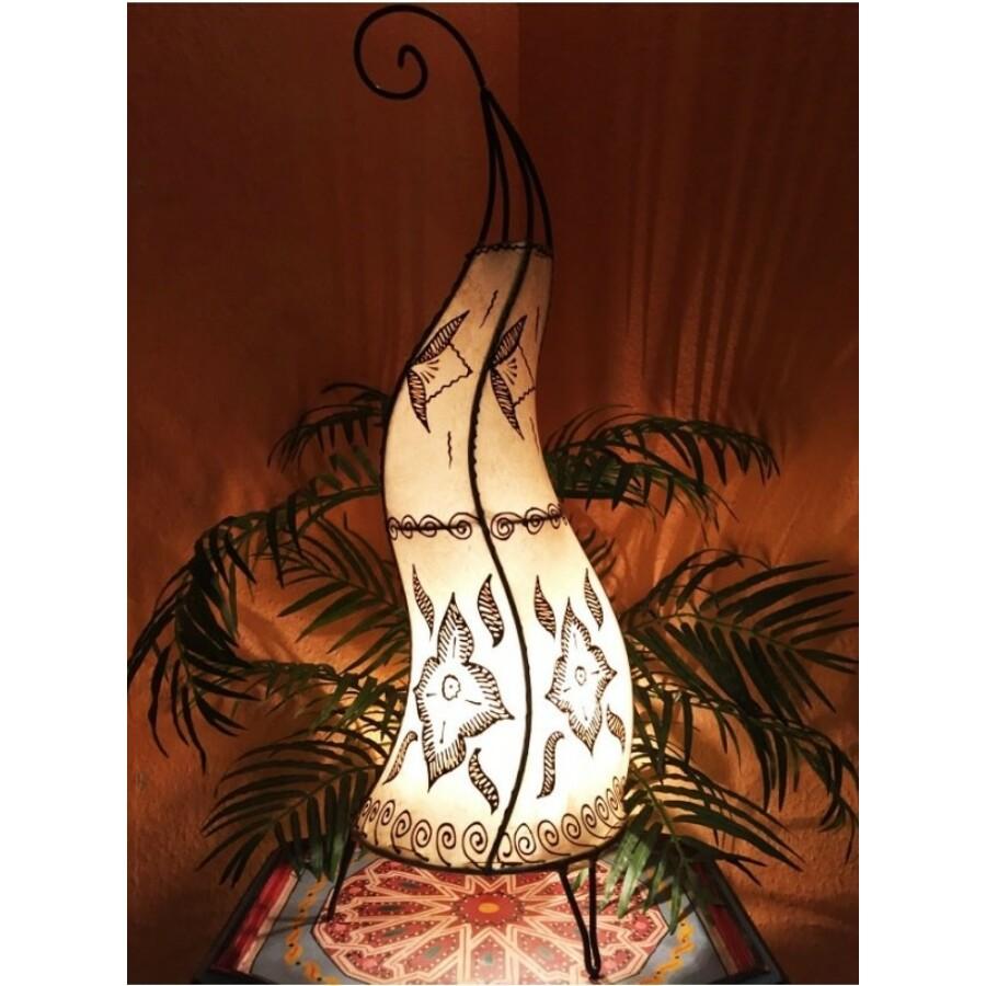 Almina marokkói henna álló lámpa natúr 71 cm