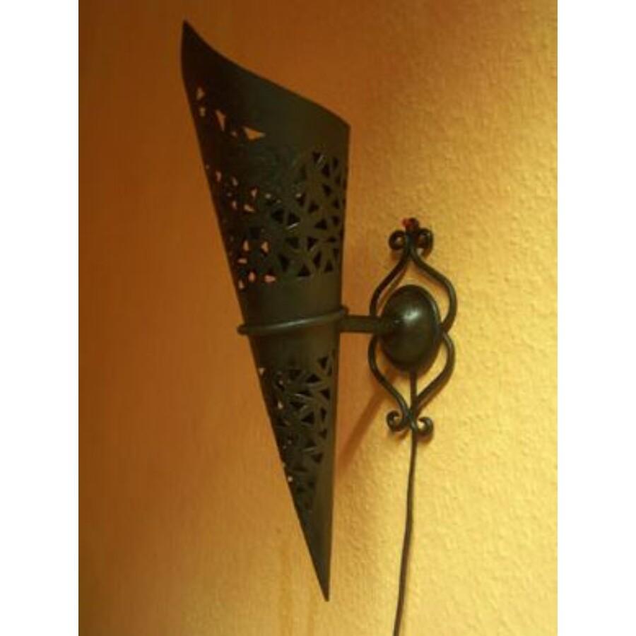 Marina marokkói fali lámpa tartóval