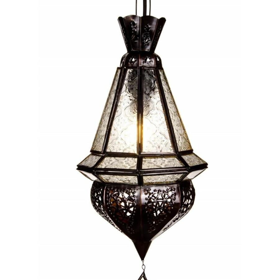 Moulay  marokkói mennyezeti lámpa fehér