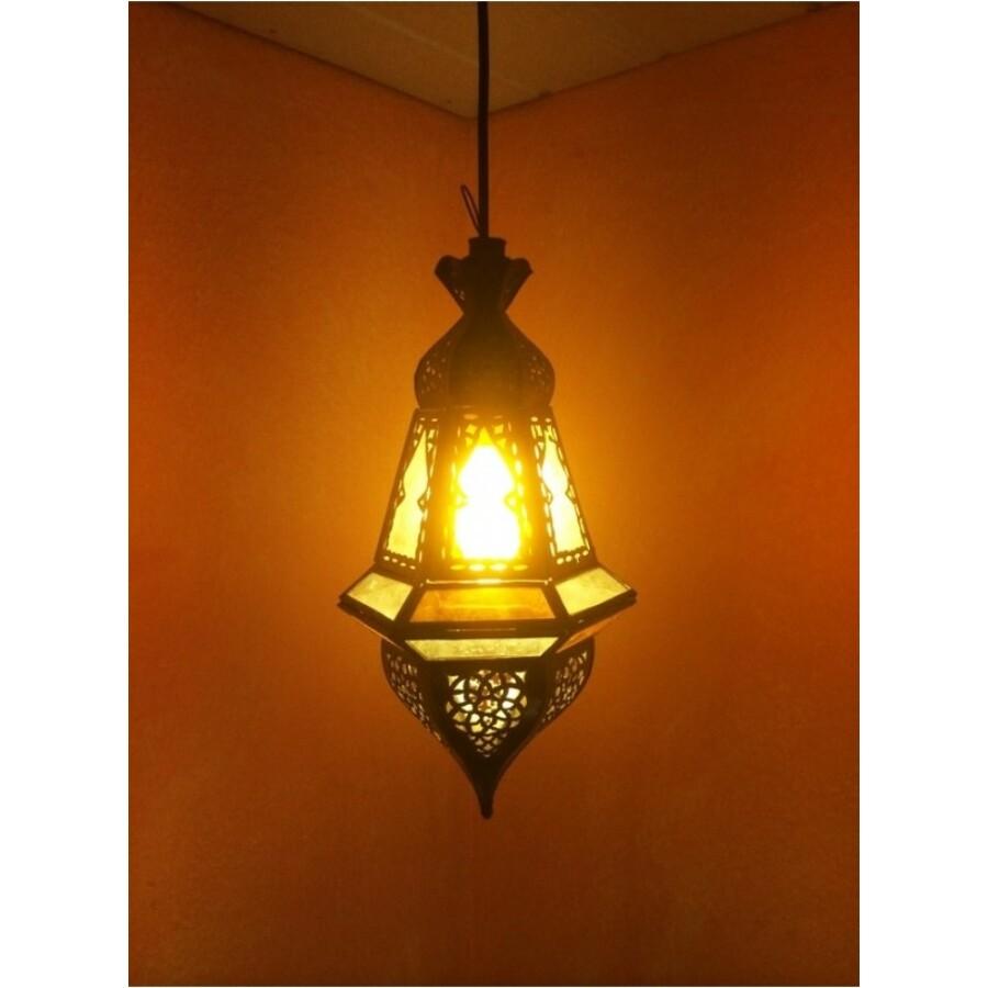 Anya marokkói mennyezeti lámpa sárga