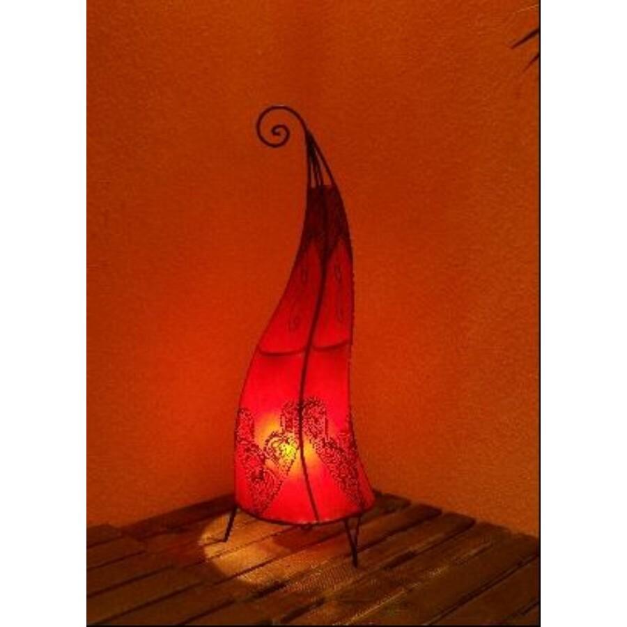 Arif marokkói henna álló lámpa piros 70 cm