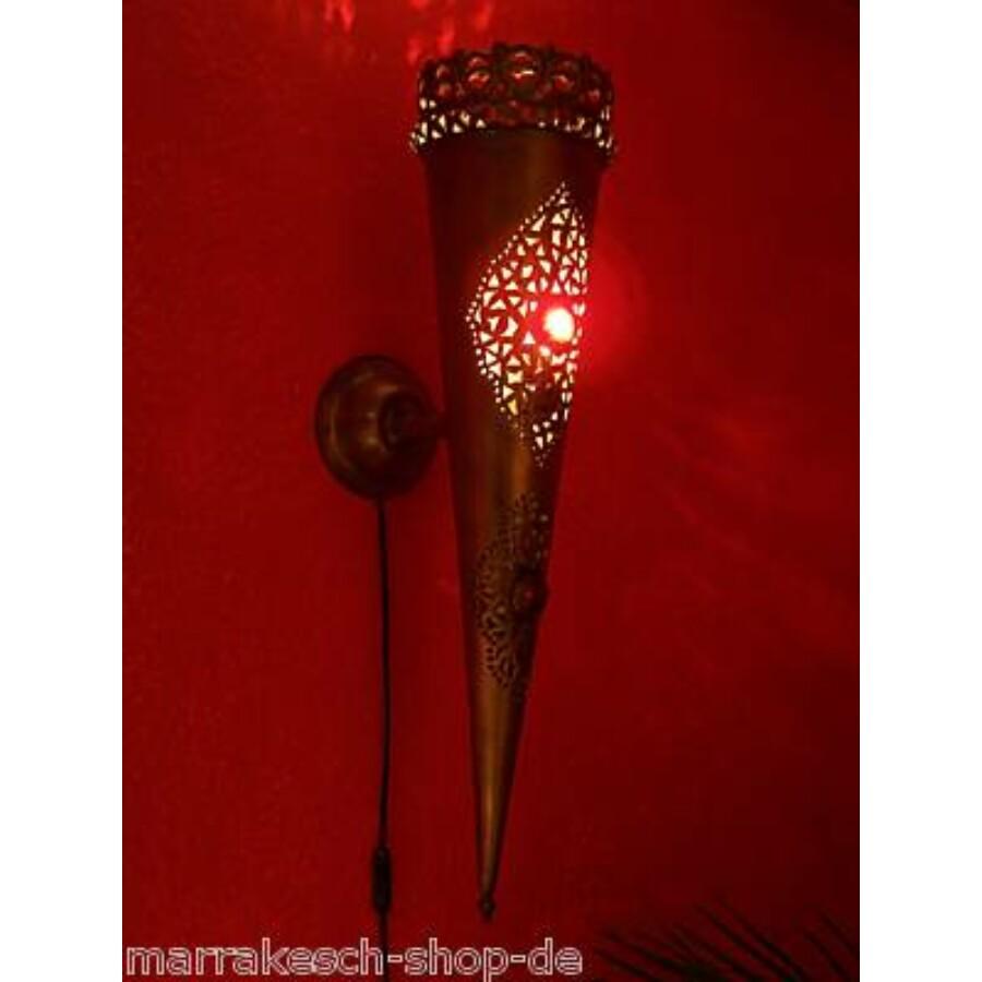 Palast marokkói fali lámpa piros
