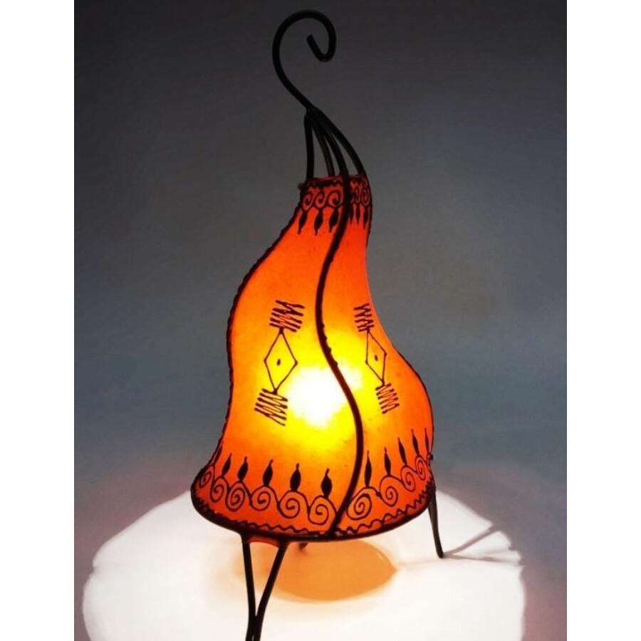 Zeliha marokkói álló henna lámpa narancs 42 cm