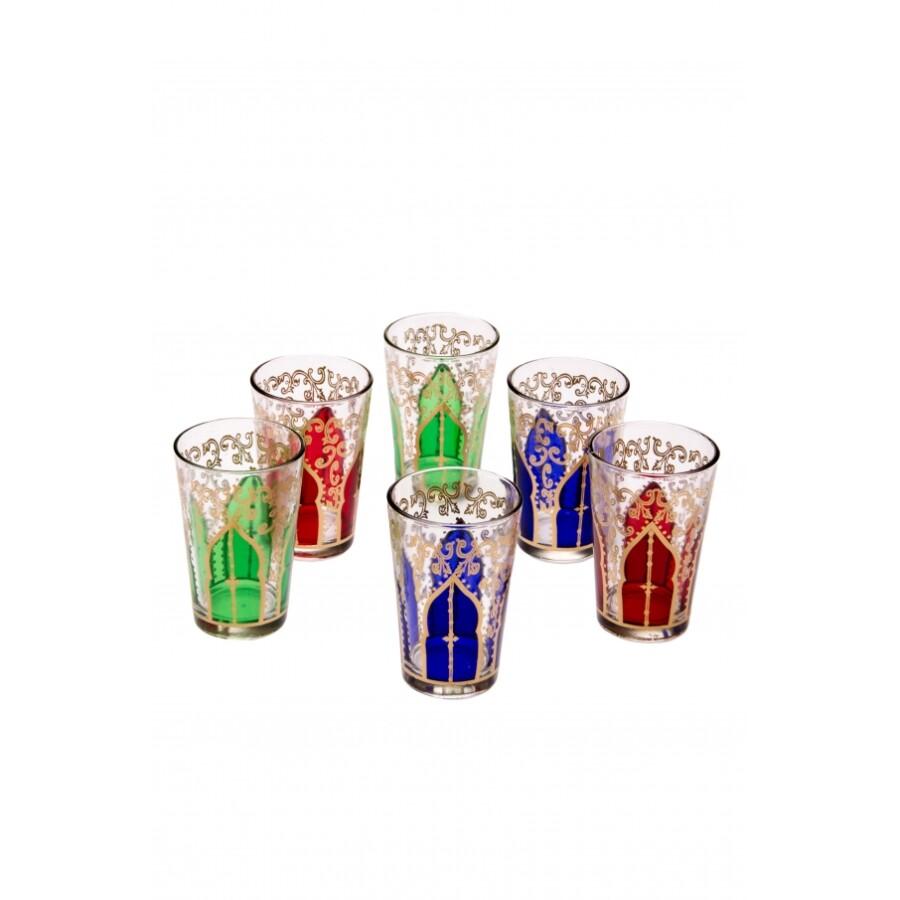 Babnour marokkói tea pohár többszínű