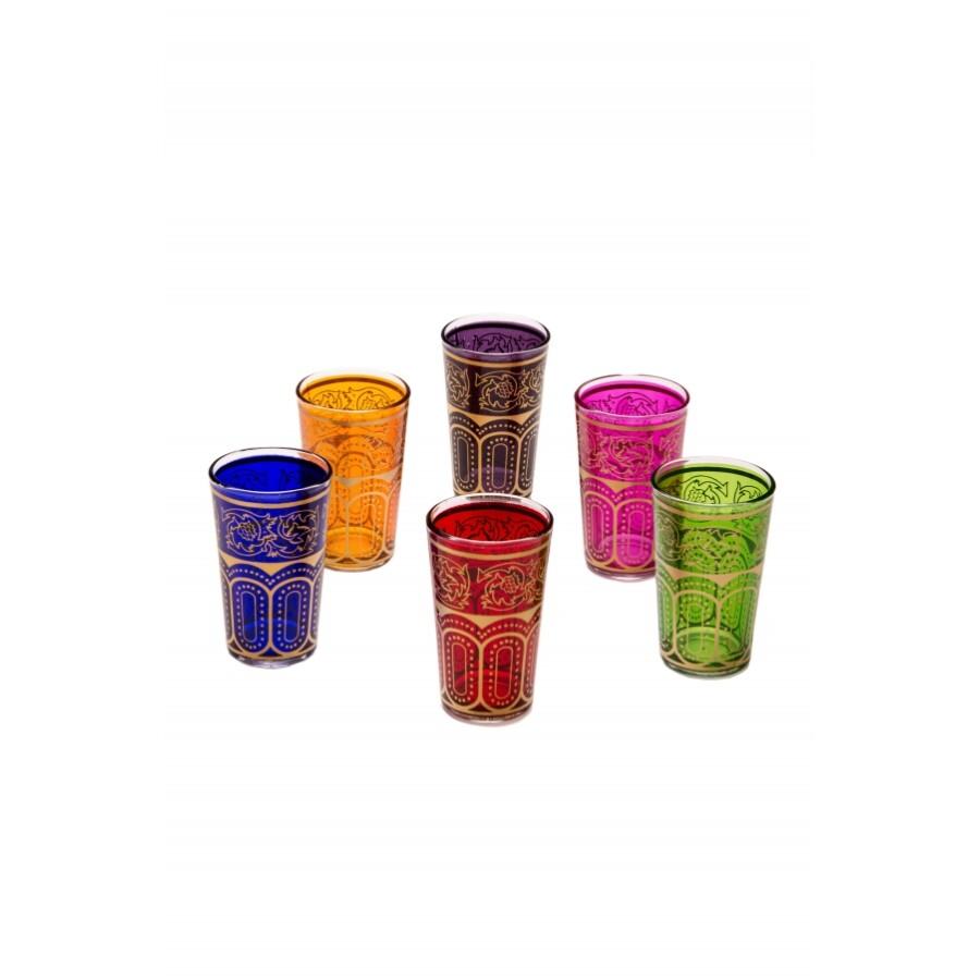 Laylana marokkói tea pohár többszínű