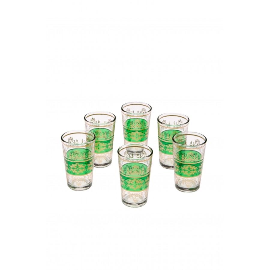Marrakesch marokkói tea pohár zöld