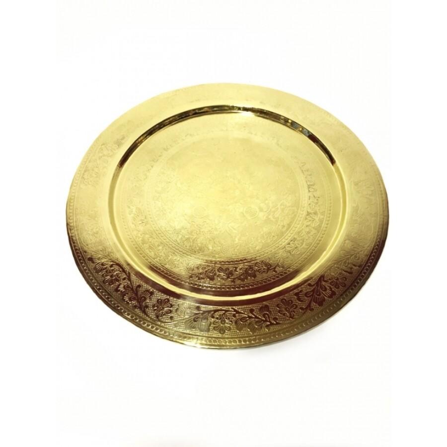 Afaf arany marokkói tálca 40 cm