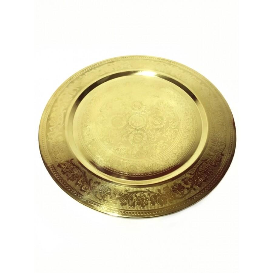 Afaf arany marokkói tálca 50 cm