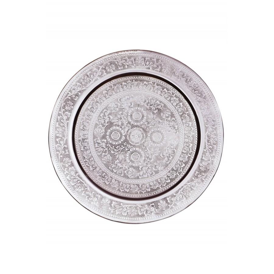 Afaf ezüst marokkói tálca 30 cm