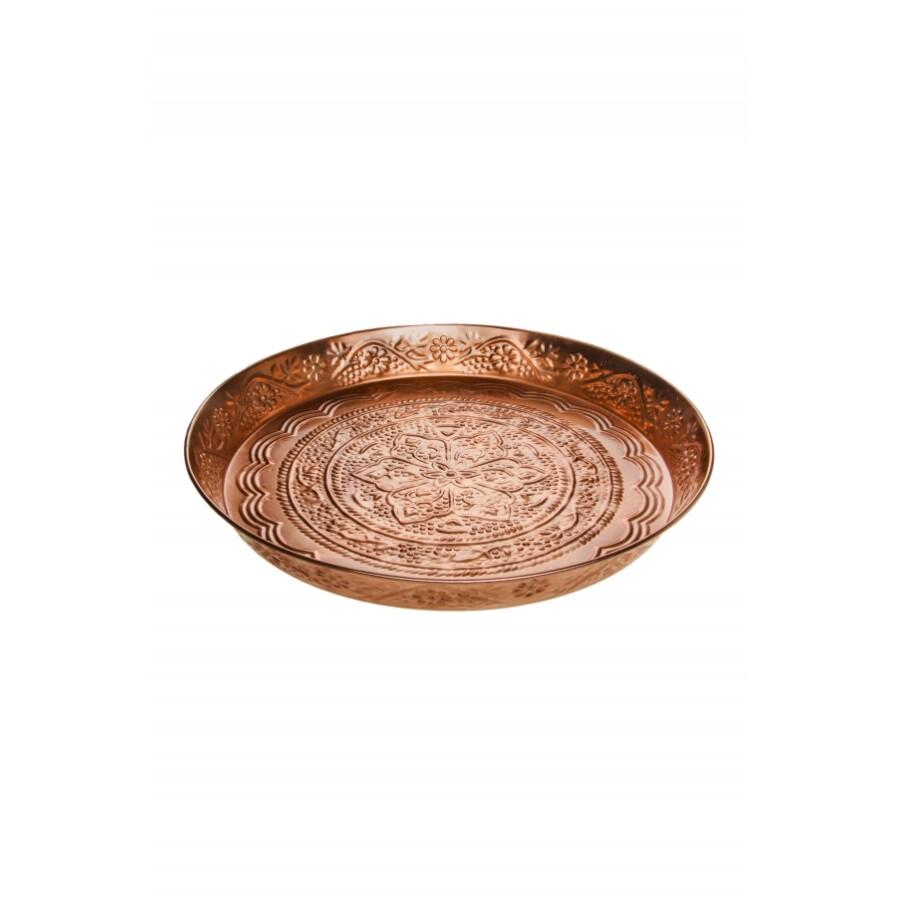Ferda rézvörös marokkói tálca 40 cm