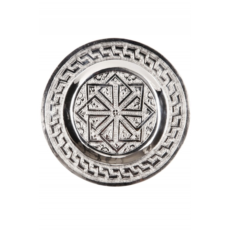 Mehdia ezüst marokkói tálca 16 cm