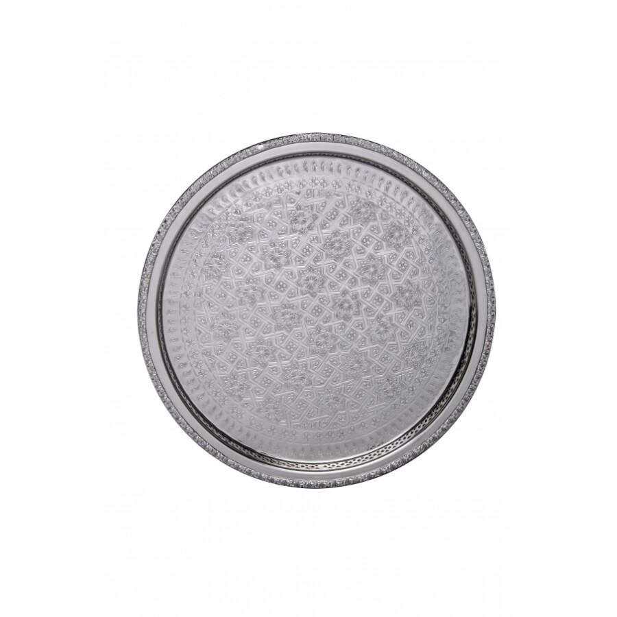 Nadia ezüst marokkói tálca 32 cm