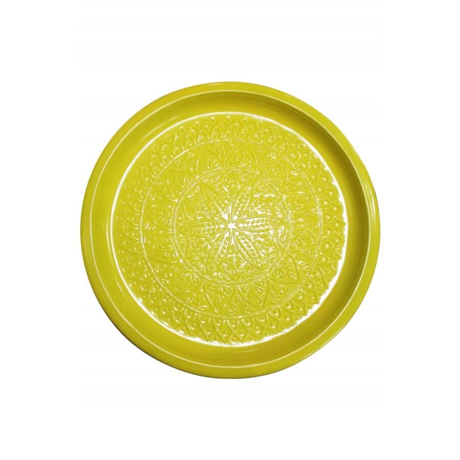 Tatmanur sárga marokkói tálca 40 cm