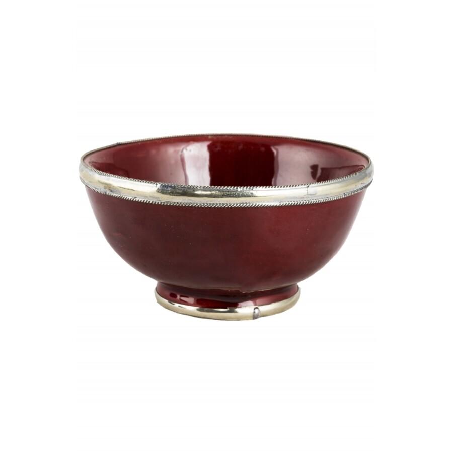 Cariba marokkói kerámia tányér bordó