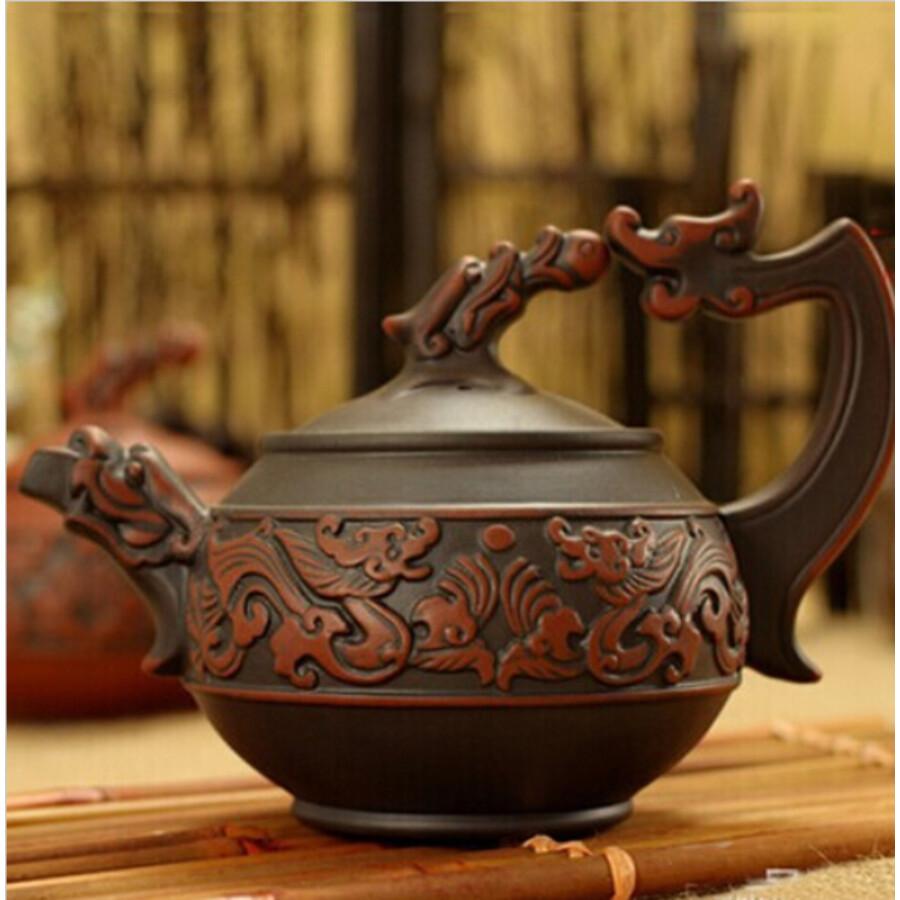 Yixing barna teáskanna